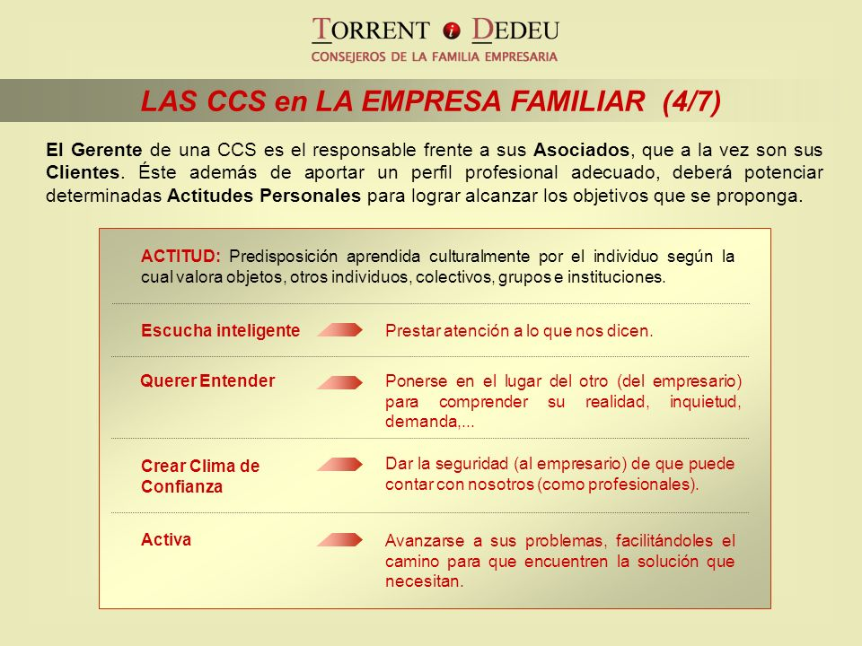 LAS CCS en LA EMPRESA FAMILIAR (4/7)