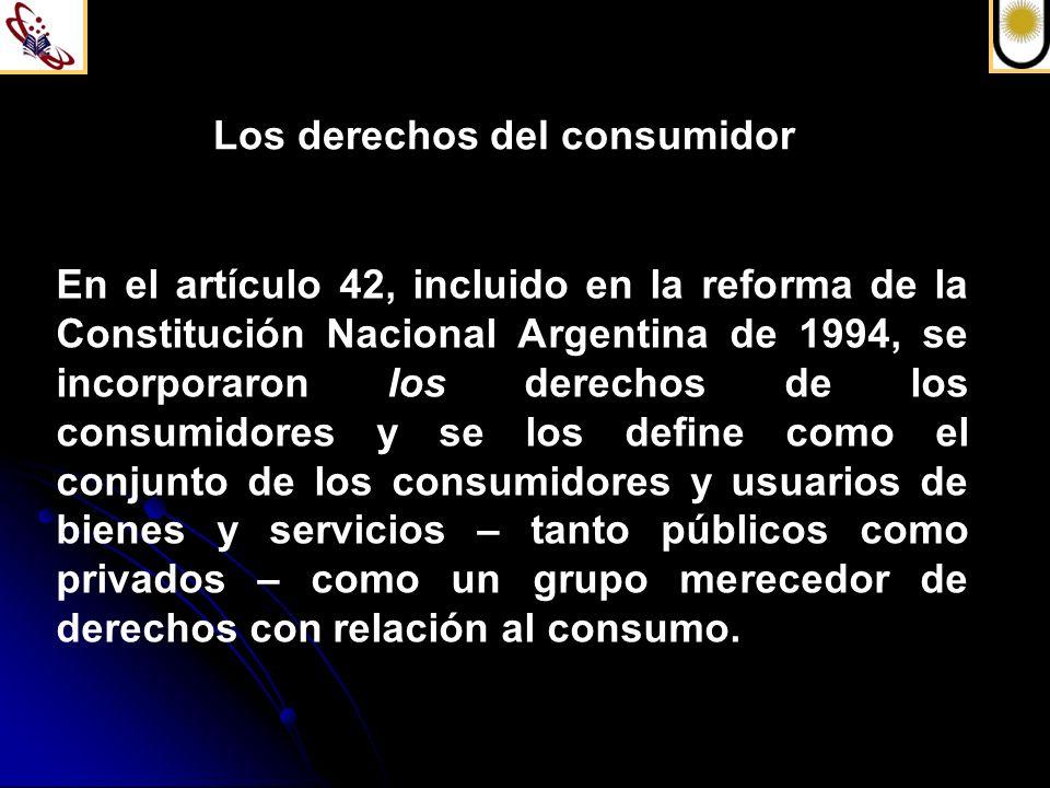 Los derechos del consumidor