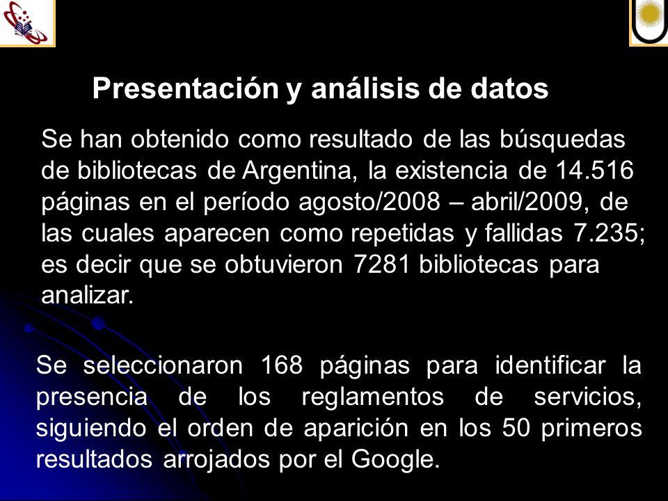 Presentación y análisis de datos