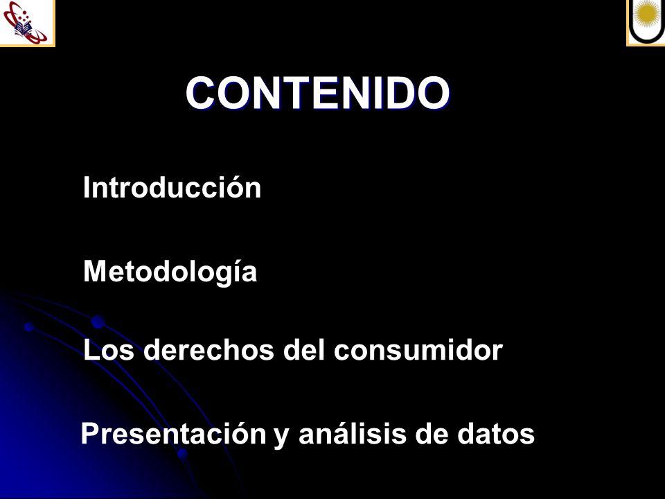 CONTENIDO Introducción Metodología Los derechos del consumidor
