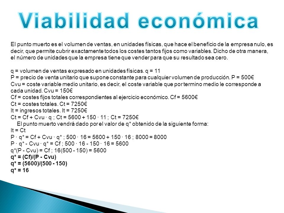 Viabilidad económica