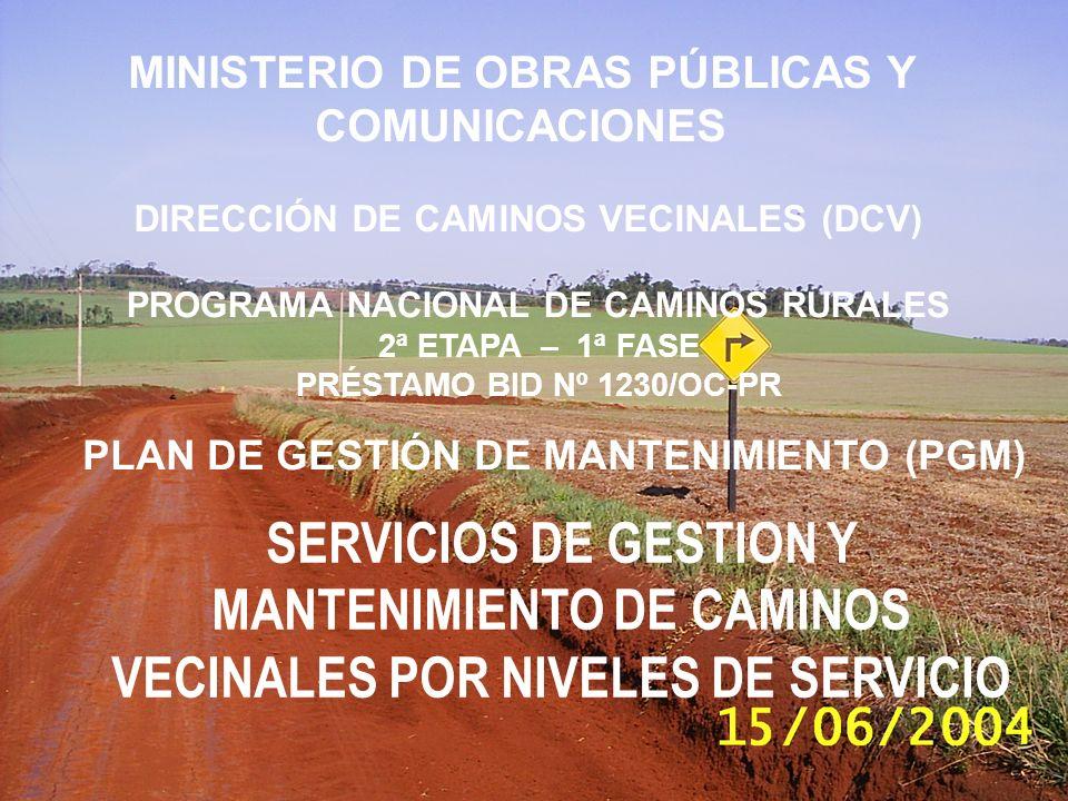 MINISTERIO DE OBRAS PÚBLICAS Y COMUNICACIONES