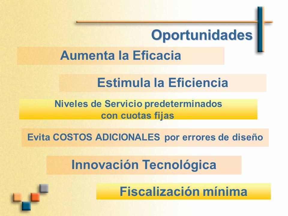 Oportunidades Aumenta la Eficacia Estimula la Eficiencia