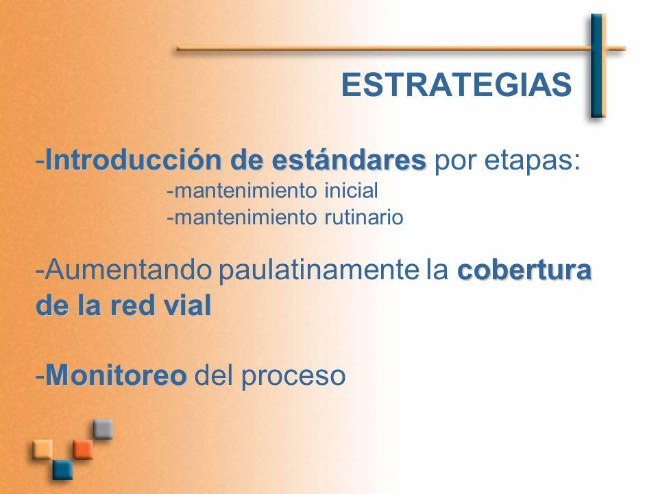 ESTRATEGIAS -Introducción de estándares por etapas: