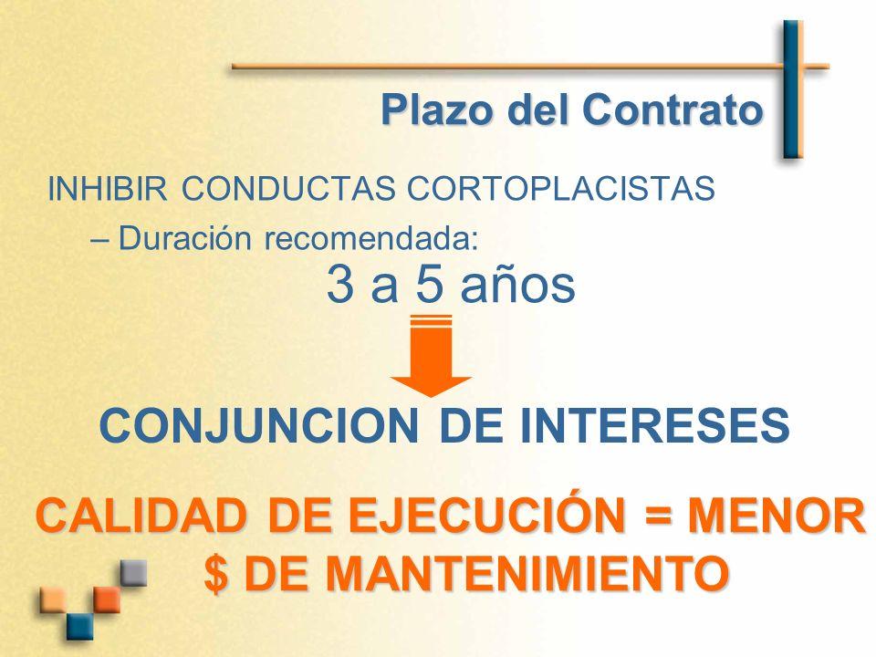 3 a 5 años CONJUNCION DE INTERESES