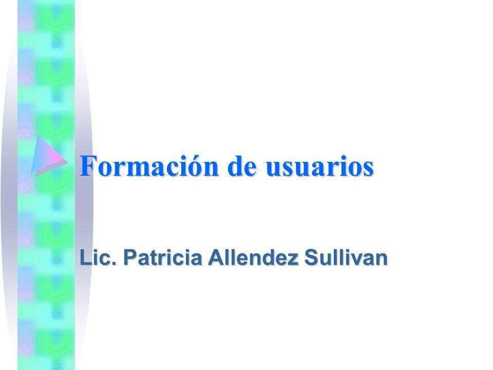 Lic. Patricia Allendez Sullivan