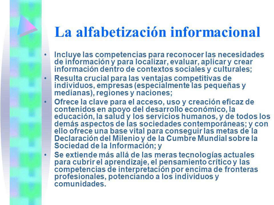 La alfabetización informacional