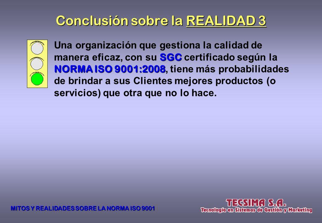 Conclusión sobre la REALIDAD 3