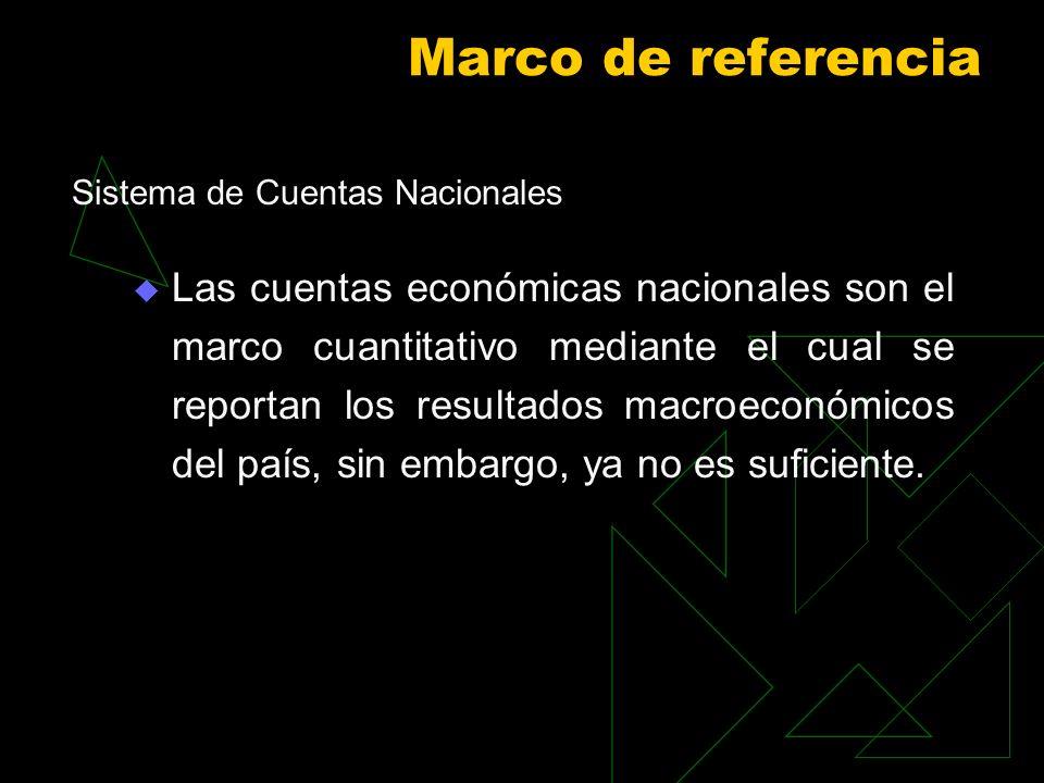 Marco de referenciaSistema de Cuentas Nacionales.