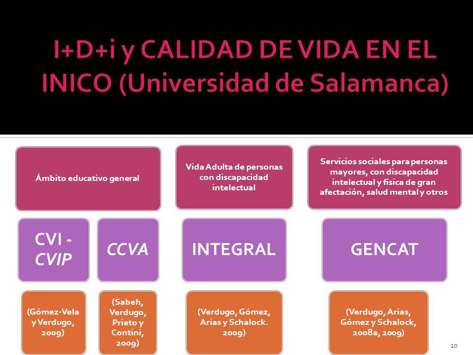 I+D+i y CALIDAD DE VIDA EN EL INICO (Universidad de Salamanca)