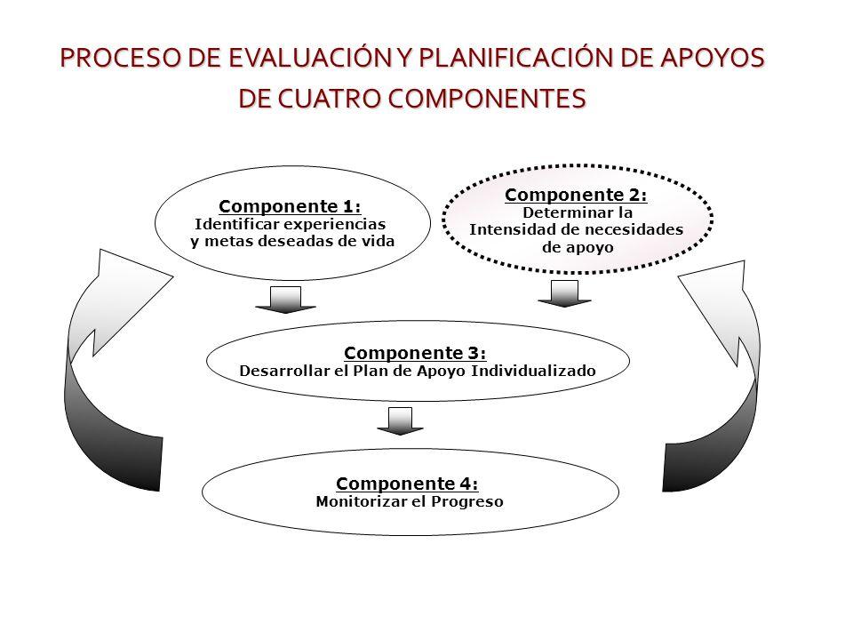 PROCESO DE EVALUACIÓN Y PLANIFICACIÓN DE APOYOS DE CUATRO COMPONENTES