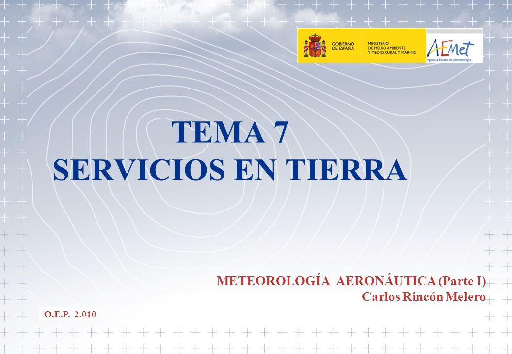 TEMA 7 SERVICIOS EN TIERRA