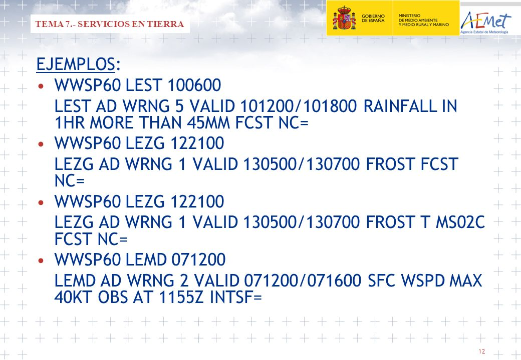 LEZG AD WRNG 1 VALID 130500/130700 FROST FCST NC=
