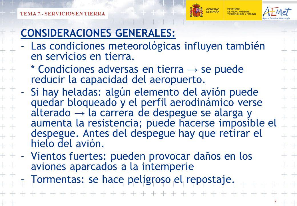TEMA 7.- SERVICIOS EN TIERRA