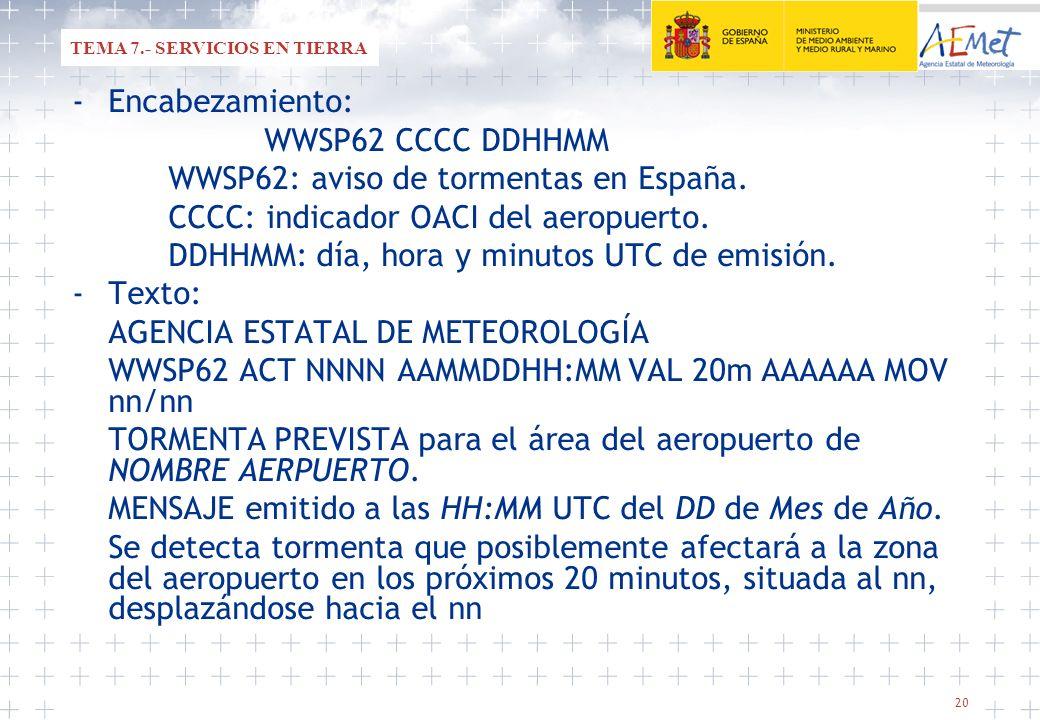 WWSP62: aviso de tormentas en España.