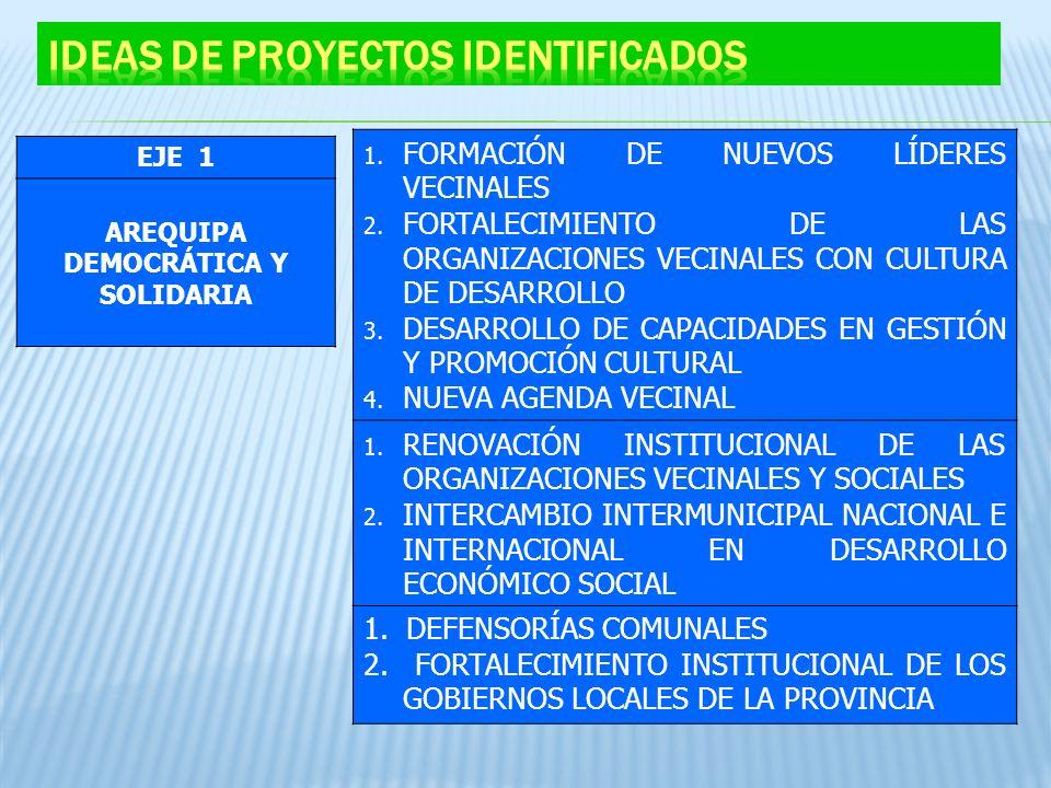 Ideas de Proyectos identificados