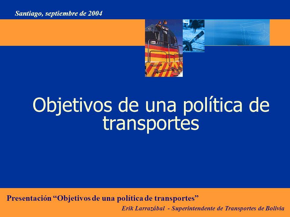 Objetivos de una política de transportes