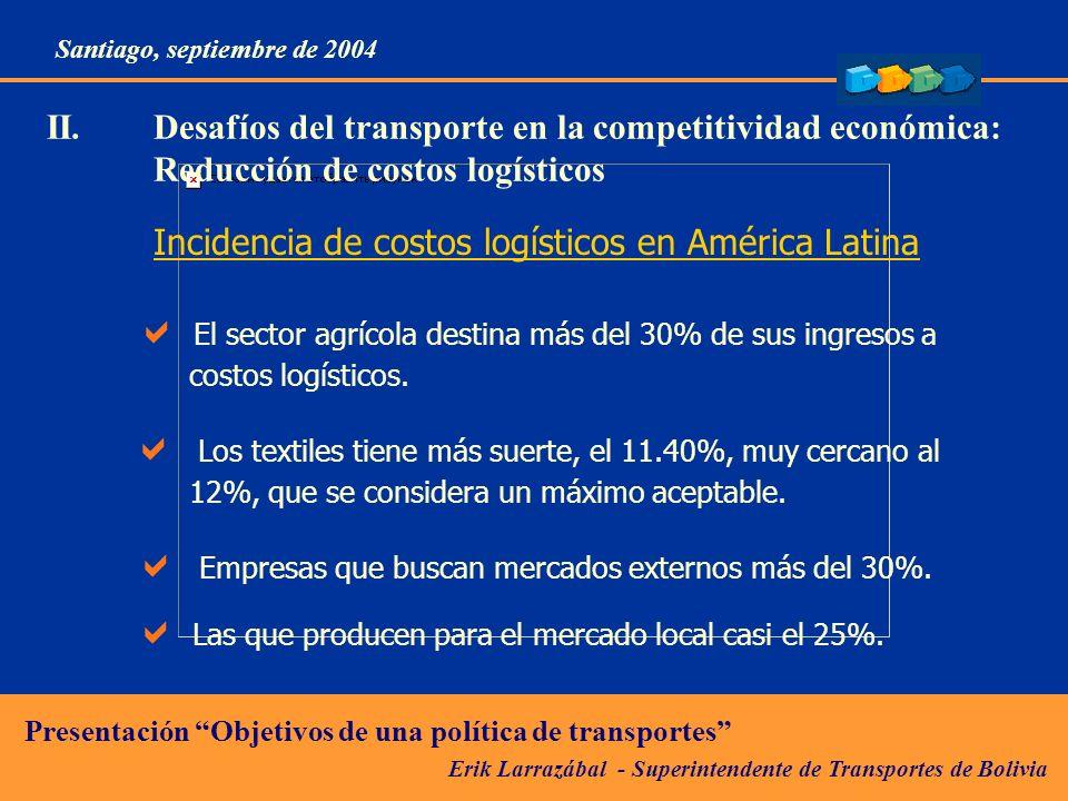 Incidencia de costos logísticos en América Latina