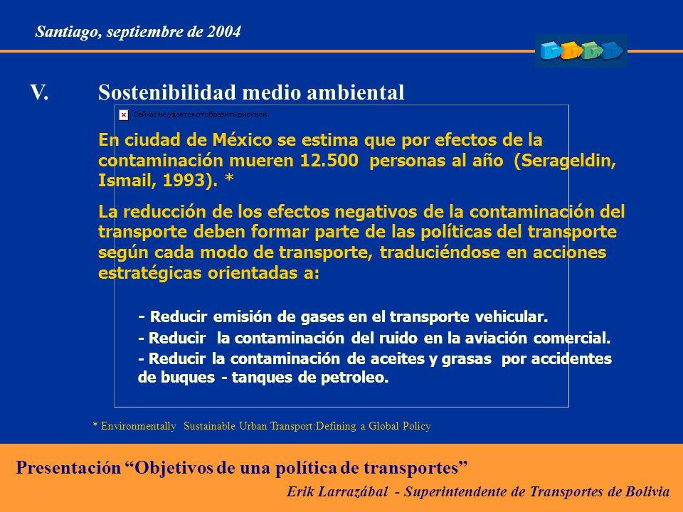 V. Sostenibilidad medio ambiental