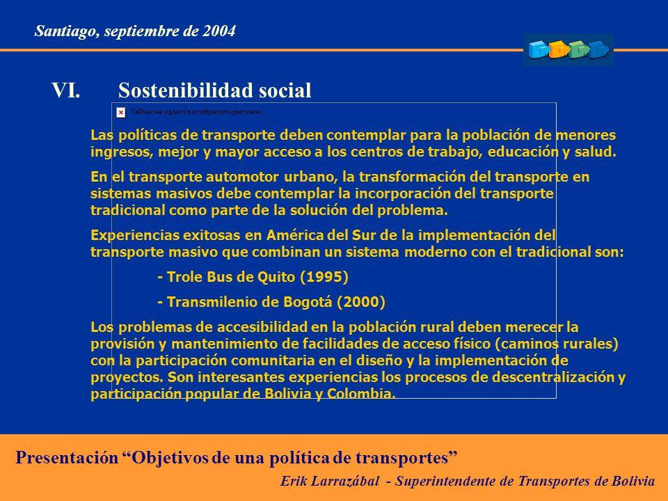 VI. Sostenibilidad social