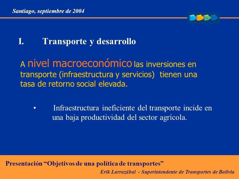 I. Transporte y desarrollo