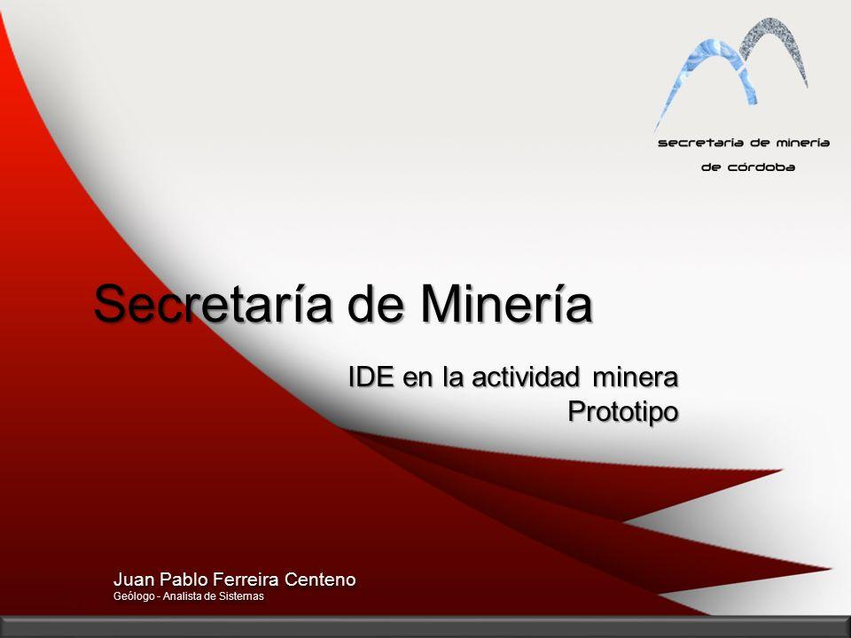 Secretaría de Minería IDE en la actividad minera Prototipo