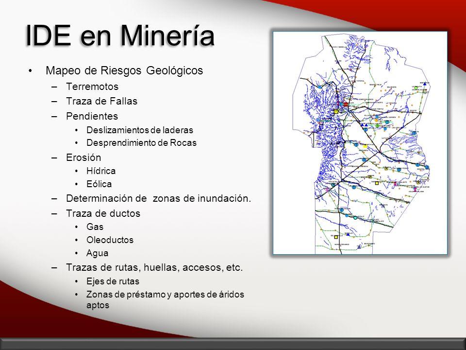 IDE en Minería Mapeo de Riesgos Geológicos Terremotos Traza de Fallas
