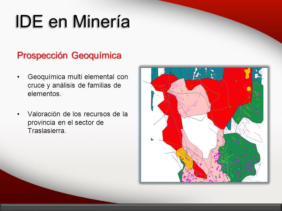 IDE en Minería Prospección Geoquímica