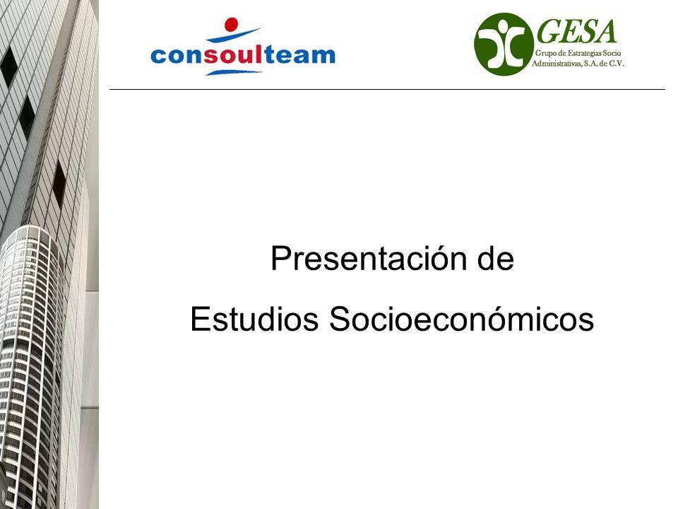 Estudios Socioeconómicos
