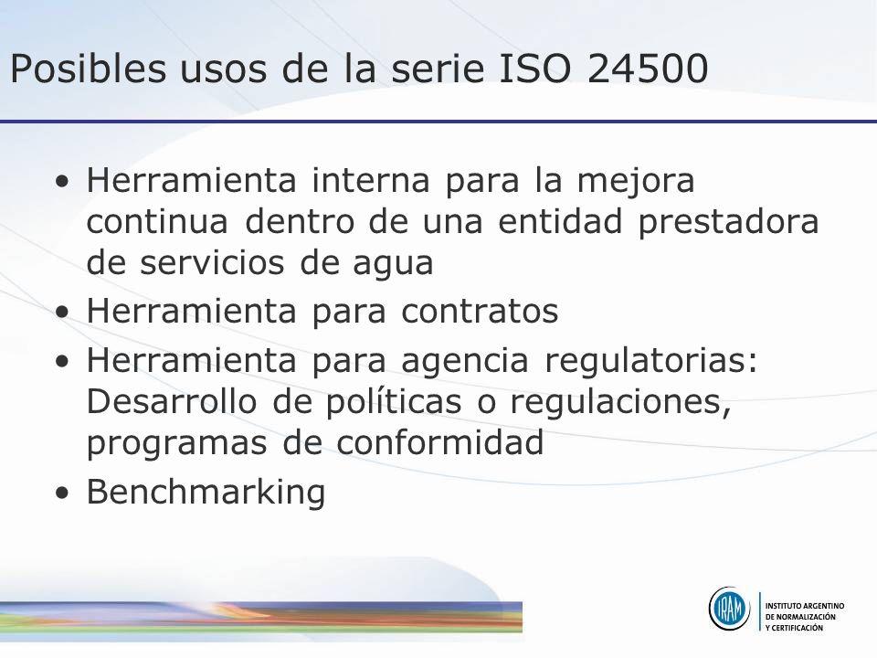 Posibles usos de la serie ISO 24500