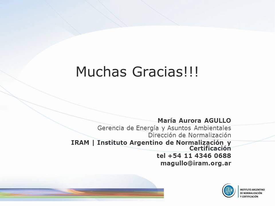 Muchas Gracias!!! María Aurora AGULLO