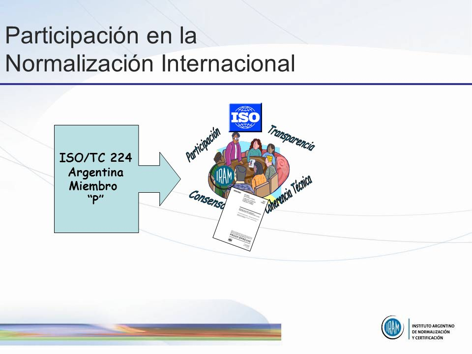 Participación en la Normalización Internacional