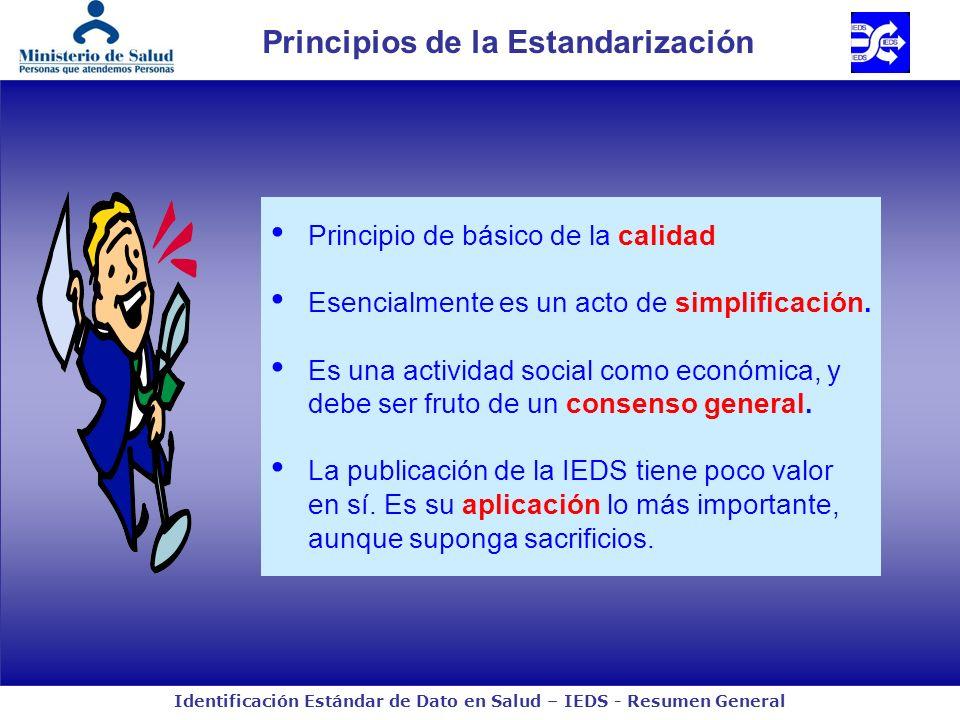 Principios de la Estandarización
