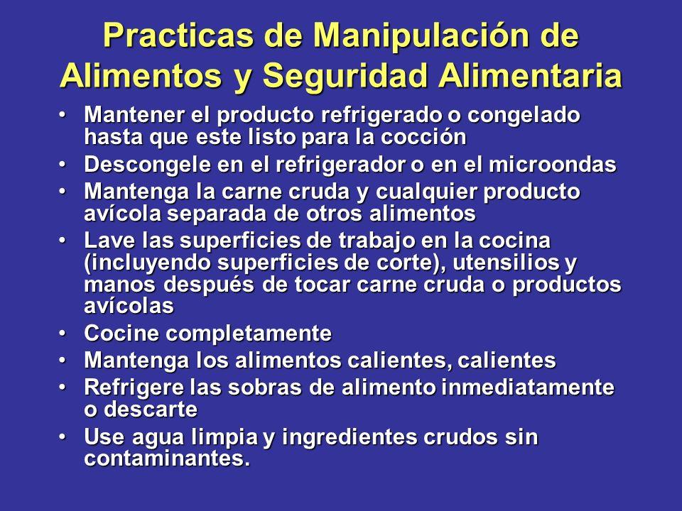 Practicas de Manipulación de Alimentos y Seguridad Alimentaria