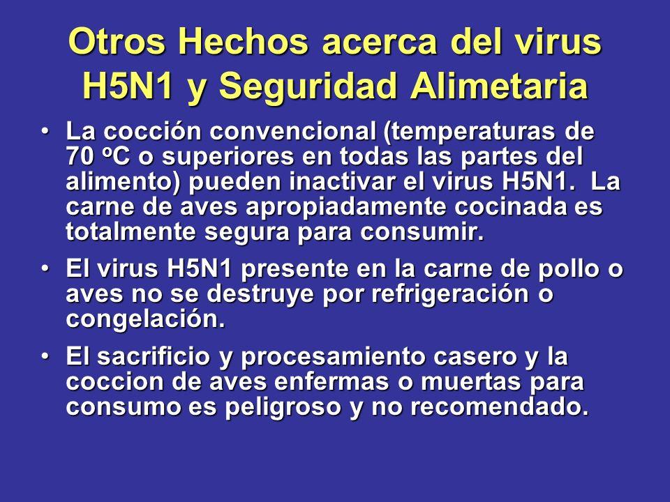 Otros Hechos acerca del virus H5N1 y Seguridad Alimetaria