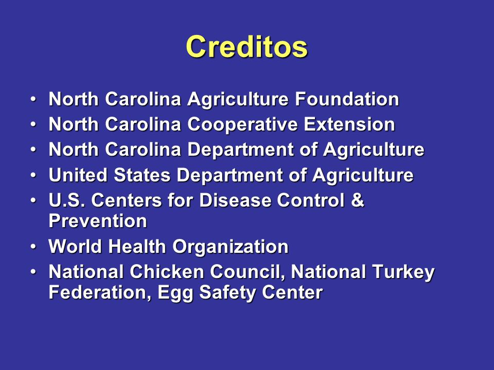 Creditos North Carolina Agriculture Foundation