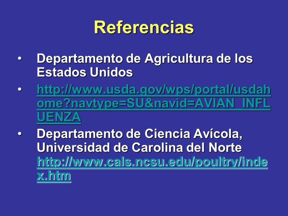 Referencias Departamento de Agricultura de los Estados Unidos