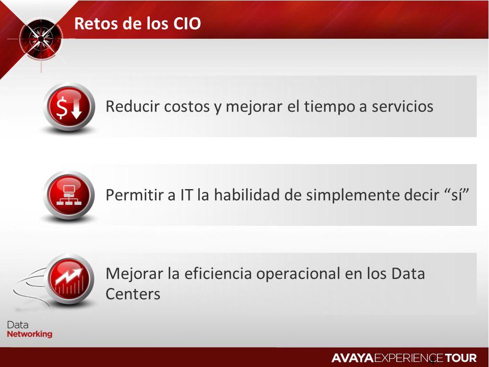 Retos de los CIO Reducir costos y mejorar el tiempo a servicios
