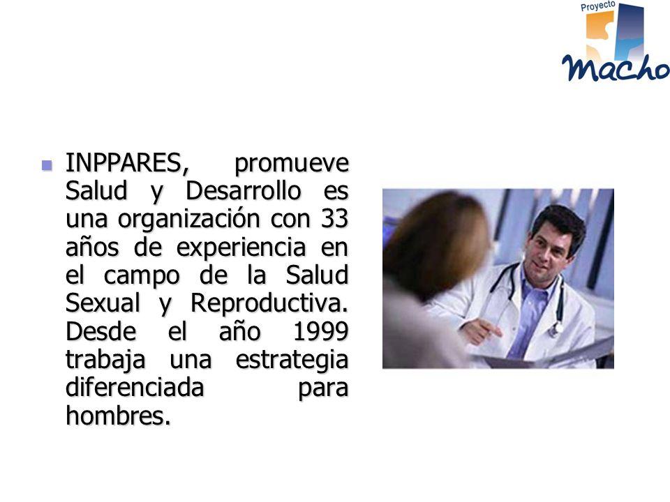 INPPARES, promueve Salud y Desarrollo es una organización con 33 años de experiencia en el campo de la Salud Sexual y Reproductiva.