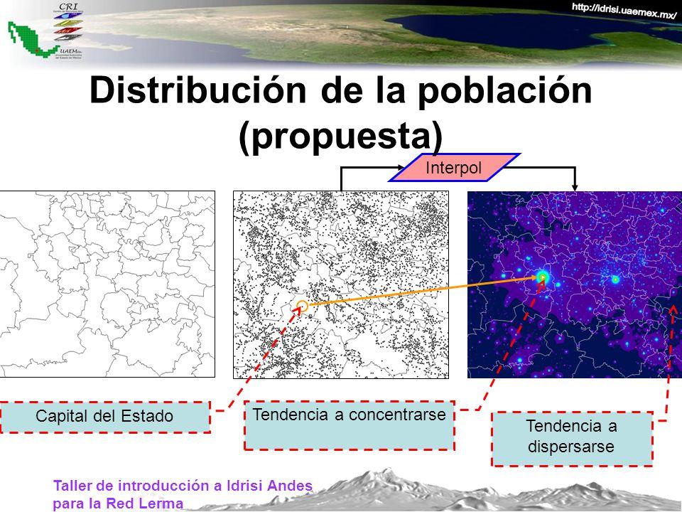 Distribución de la población (propuesta)