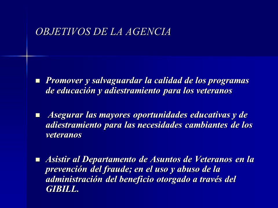 OBJETIVOS DE LA AGENCIA