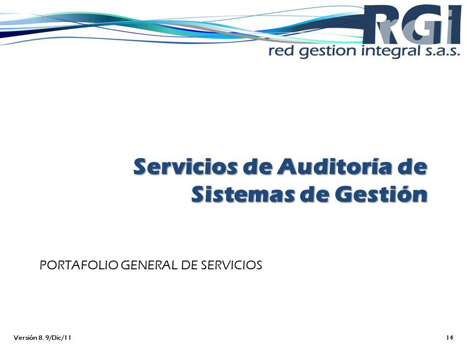 Servicios de Auditoría de Sistemas de Gestión