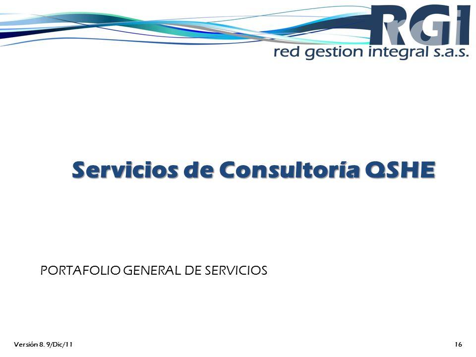 Servicios de Consultoría QSHE
