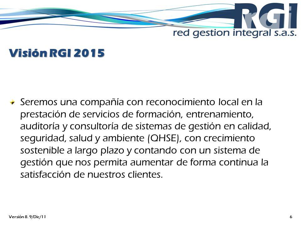 Visión RGI 2015