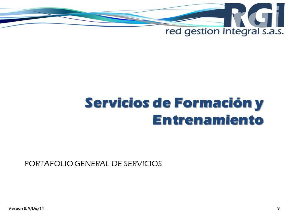 Servicios de Formación y Entrenamiento