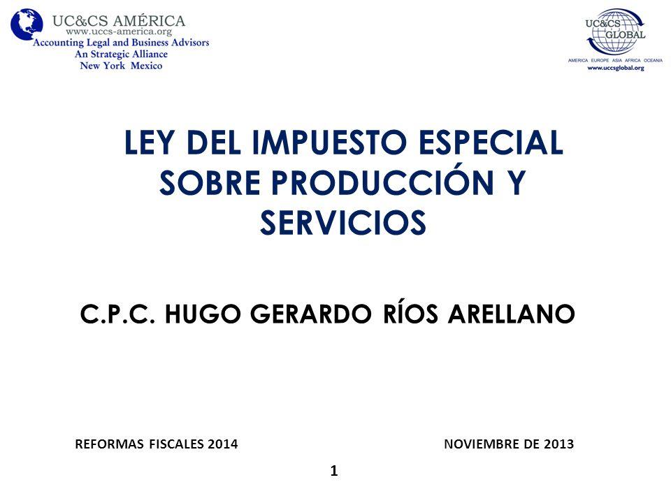 LEY DEL IMPUESTO ESPECIAL SOBRE PRODUCCIÓN Y SERVICIOS