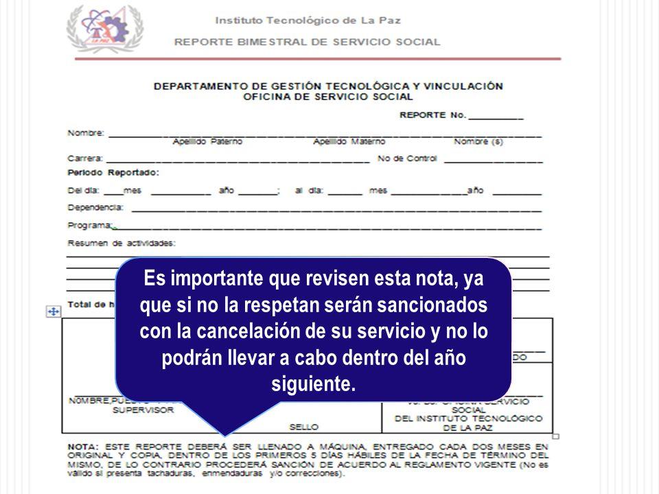 Es importante que revisen esta nota, ya que si no la respetan serán sancionados con la cancelación de su servicio y no lo podrán llevar a cabo dentro del año siguiente.