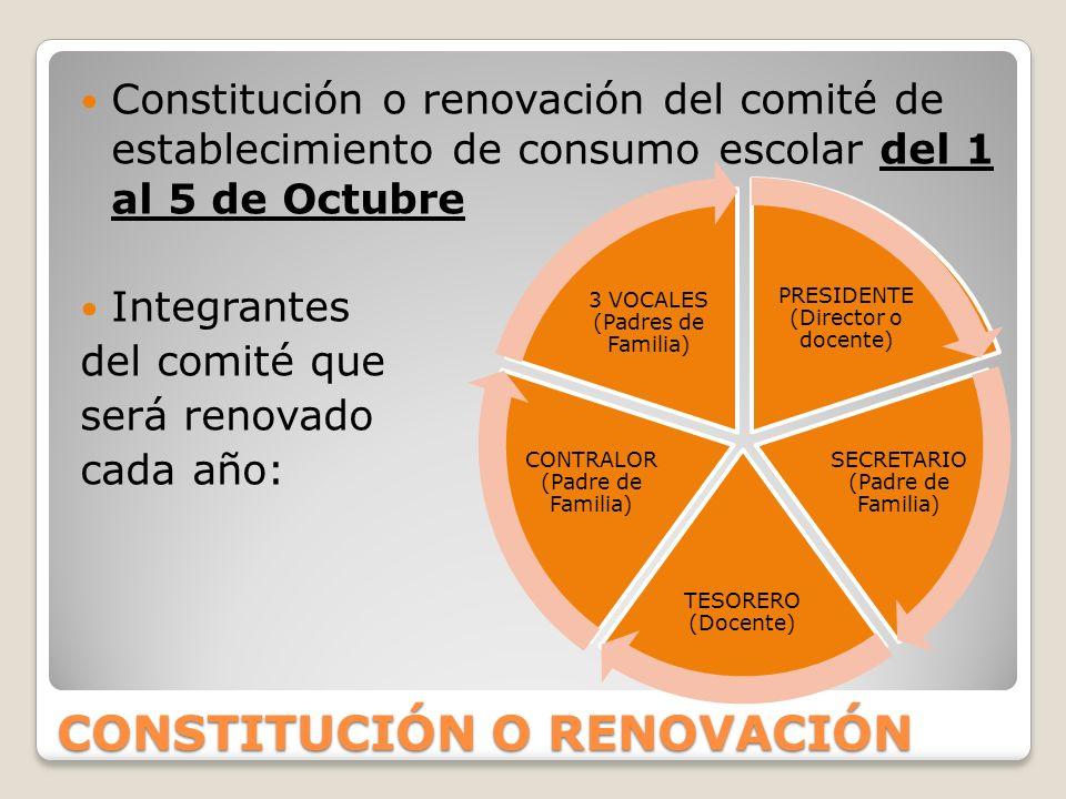 CONSTITUCIÓN O RENOVACIÓN