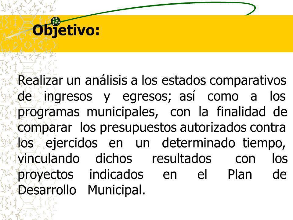 Objetivo: Realizar un análisis a los estados comparativos
