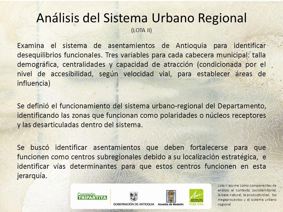 Análisis del Sistema Urbano Regional (LOTA II)